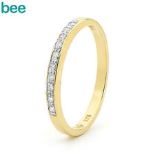 Classic Midrange Jen 0.1ct Diamond 9k 9ct Solid Yellow Gold Eternity Rings