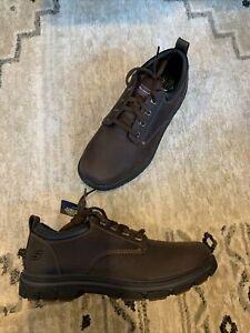 Skechers Segment Rilar Oxford Men's Size 10 2E Wide Brown 64260EW/BRN