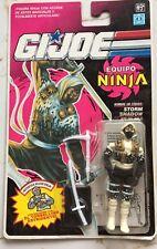 "GI Joe Vintage 1992 Hasbro Ninja Force Storm Shadow 3.75"" Action Figure new"