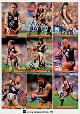 1994 Select AFL Personally Autographed Trading cards Team Set Carlton (13 + 1)