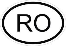 Rumänien RO Aufkleber Autoaufkleber Motorrad Nationalitätenkennzeichen Auto