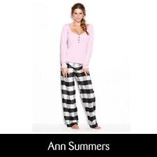 ANN SUMMERS Ladies Womens Pink Long Sleeve PJs Pyjamas Set Size 8 10 12 14 16 18