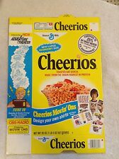 1970s Cheerios Unused~Flat Cereal Box~Ad for CB Radio Iron-Ons~20oz~Vintage Prop
