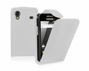 WHITE Leather phone Case Card Slots for Samsung Galaxy Ace GT-S5830 / GT-S5830i