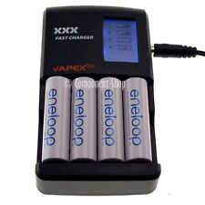 VAPEX FAST LCD Charger for AA / AAA rechargeable NiMH batteries