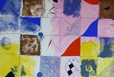 "JOSEP GUINOVART HAND SIGNED 1982 ""COMPOSITION""  LITHOGRAPH Spanish Artist Joseph"