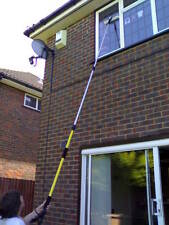 Water fed extenable washpole window cleaning system 4 part for conservatories