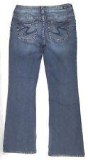 Silver Suki Jeans Womens Size 32 indigo dyed medium wash boot cut stretch