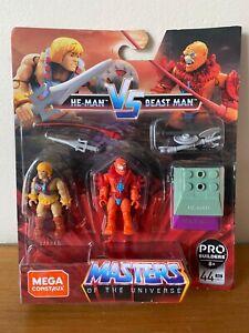 MEGA CONSTRUX Pro Builders Masters of The Universe He-Man Vs Beast Man GNN73