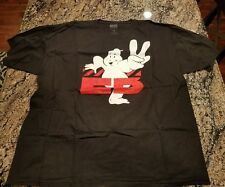 Extra Butter Men's Ghostbuster Ghost Black Graphic T Shirt Size 2XL XXL