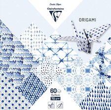 Clairefontaine - pochette 60 feuilles Origami 15x15 cm - Shibori Camaïeu bleus
