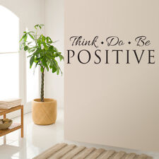 Think Do Be Positive Vinyl Quote Wall Sticker Words Decals Home Decor Removable