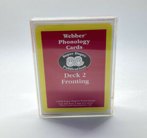 Super Duper Publications Webber Phonology Cards Fronting Speech Therapy Cards