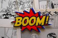 Boom Necklace - Rockabilly Vintage 50s Pin Up Comic Book Anime Super Hero