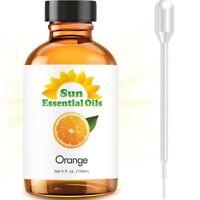 Sweet Orange Essential Oil (Large 4oz) 100% Pure Amber Glass Bottle + Dropper