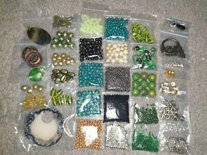 Green Beads 500g Jewellery Making Seed Beads Glass Beads