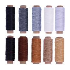 100m 1mm Cream Flat Nylon Waxed Sewing Thread F Leather Craft//Tents//Purses//Sofa