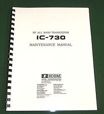 Icom IC-730 Service Manual - With Full size Original Format schematics!