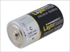 Lighthouse - Alkaline Batteries C LR14 6200mAh Pack of 2 - LR14