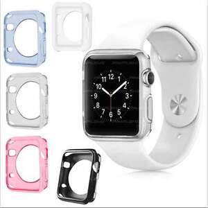 Slim Silicone Gel TPU Case Cover For Apple Watch 38mm 42mm iWatch Sport, Edition