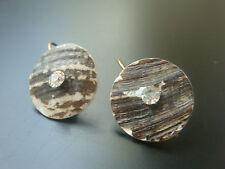 Mode-Ohrschmuck aus Bronze mit Kristall-Hauptstein