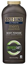 Gold Bond Ultimate Men's Essentials Body Powder Refresh 360 Scent 10oz Each