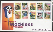 New Zealand 1997 FDC Wackiest Letterboxes issue set stamps