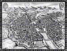 Mapa Antiguo plan Ciudad París Francia 30X40 CMS Fine art print arte cartel BB8160
