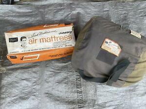 Vintage Ted Williams Inflatable Mattress & Sleeping Bag Set Camping Air Bed