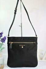"MICHAEL KORS ""Kelsey"" Crossbody Messenger Bag Large Black Fabric ~ Beautiful VGC"