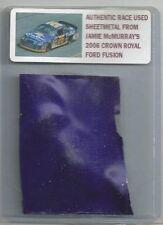 JAMIE McMURRAY NASCAR RACE USED SHEET METAL 2006 CAR PIECE JMC-1