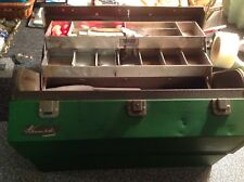 OLD FISHING TACKLE BOX~LURES~Plueger~KENNEDY~FISH GEAR Lock no Key Scarce&Rare