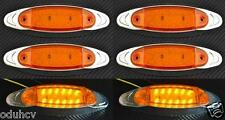 6 x 24V ARANCIO LED LATO BORDO CROMATO LUCI DI INGOMBRO PER SUV CAMION