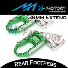 For Kawasaki VERSYS 1000 12 13 Green Passenger Rear Foot Pegs 39mm Extension