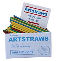 Artstraws Long Assorted Colour Paper Straws 4mm 1800pcs Art Straws Crafts