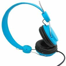 HCL BLUE FASHION STEREO HEADPHONES ADJUSTABLE iPHONE iPAD SMARTPHONE 1.5m CABLE