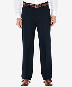J.M. Haggar Classic Fit Stretch Suit Dress Pants -Dark Navy Blue- 38x30
