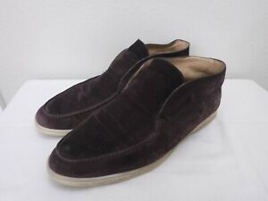 LORO PIANA OPEN WALK ITALY 10.5 43.5 Brown Suede Ankle Chukka Desert Boots Shoes