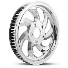 """DNA """"STORM"""" CHROME REAR PULLEY 66T 1"""" HARLEY 07+ BIG TWIN SOFTAIL DYNA"""