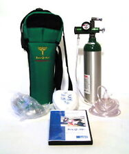 Emergency Oxygen System with CPR & Training DVD for First Aid 6 CF