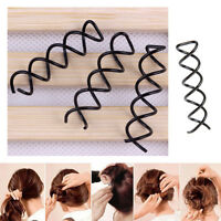 10 Pcs Womens Hair Styling Spiral Spin Screw Bobby Hair Clip Pin Twist_Barrette