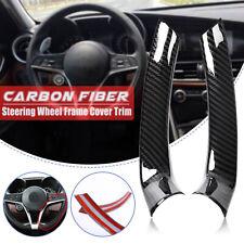 Carbon Fiber Look Steering Wheel Frame Cover Trim For Alfa Giulia Stelvio 2017