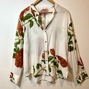 Sass And Bide Acid Flowers Floral Button Up Blouse Size 14