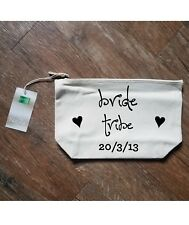 Printed MAKE UP BAG BRIDE TRIBE Wash Toiletry Wedding Hen Party Gift Present