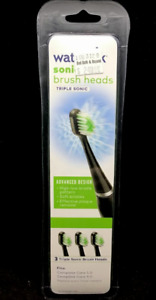Waterpik STRB-3WB Replacement Triple Sonic Brush Heads Complete Care - 3 Pack