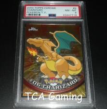 PSA 8 NM-MINT Charizard # 06 TOPPS CHROME HOLO Pokemon Card