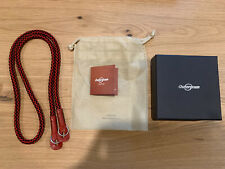 Outergram Silk Cord Camera Neck Strap Black Red Leather