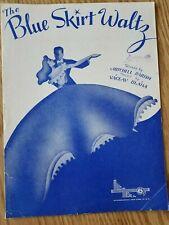 Vintage Sheet Music Piano Vocal Song 1944 The Blue Skirt Waltz Parish