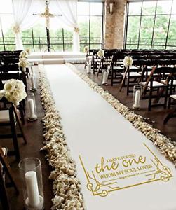 Healon 50 x 3 ft Wedding Aisle Runner White Aisle Runner Rug with Pull String