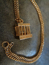 "Vintage PET SCREW Necklace 1978 CPA,Inc  Gold Tone 18"" Chain & Cage 1/2"" Screw"